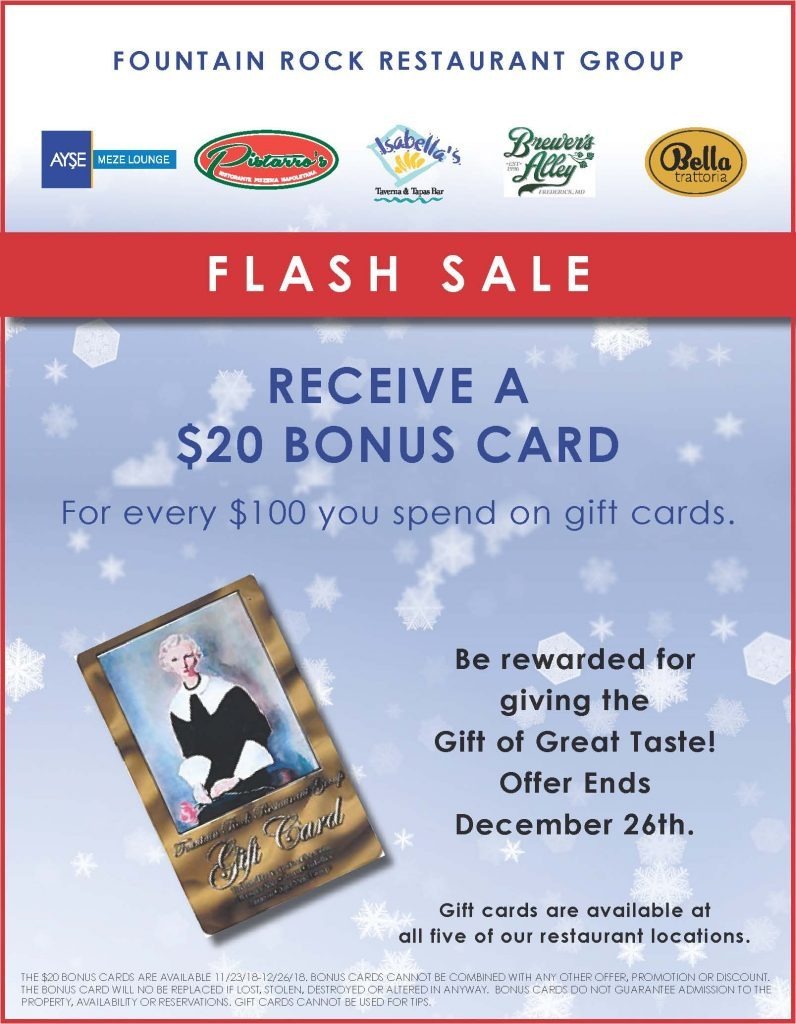 Brewer's Alley Holiday Gift Card Promo