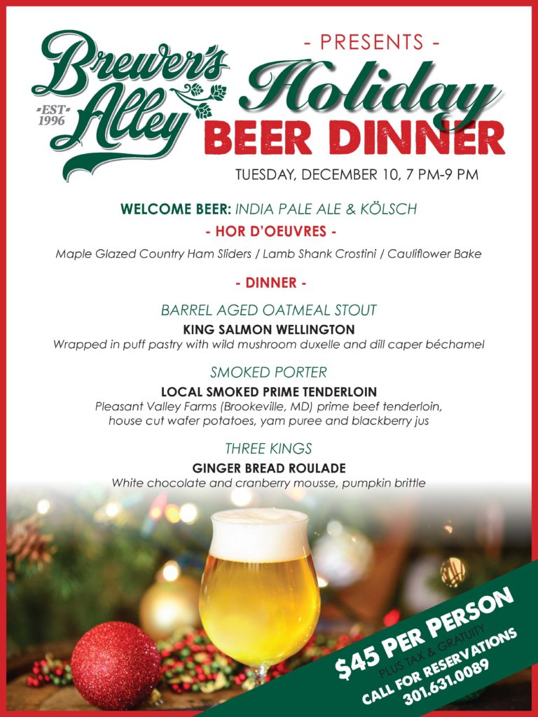 12/10 Holiday Beer Dinner