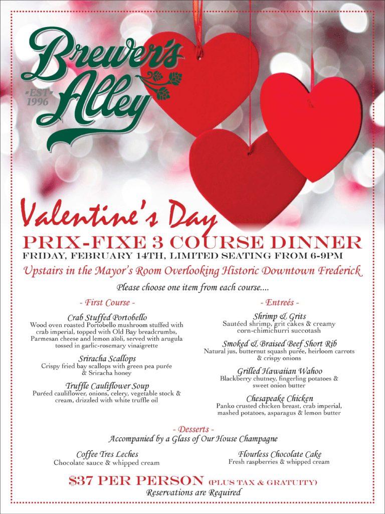 2/14 Valentines Day Prix-Fixe Menu